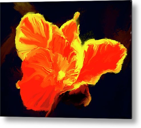 Flower Prints Metal Print featuring the painting Petal Flare by Brian Tones