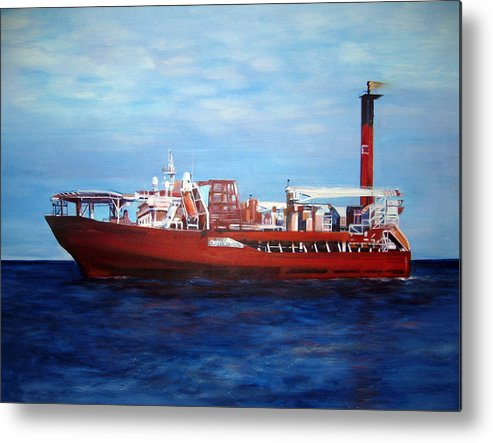 Ship Metal Print featuring the painting Petrojarl Banff by Fiona Jack