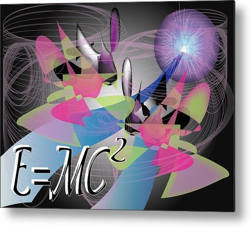 Abstract Metal Print featuring the digital art Physics 101 by George Pasini
