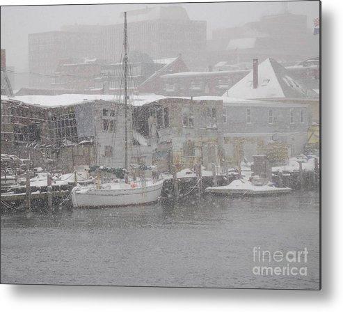 Sail Metal Print featuring the photograph Pier In Disrepair by Faith Harron Boudreau