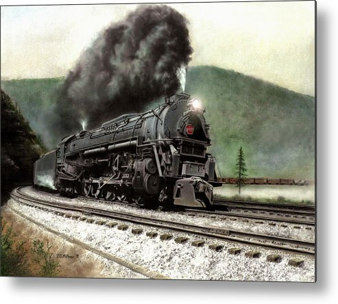 Metal Print featuring the painting Power On The Curve by David Mittner