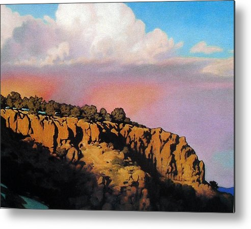 Landscape Metal Print featuring the painting Purple Rain by Kevin Lawrence Leveque