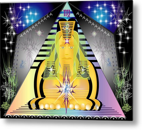Egypt Metal Print featuring the digital art Pyramid2 by George Pasini