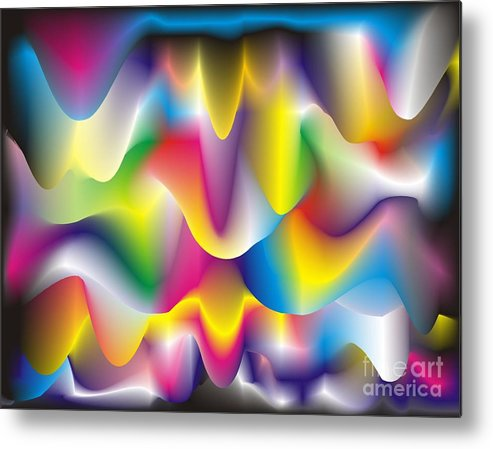 Abstract Metal Print featuring the digital art Quantum Landscape 1 by Walter Oliver Neal