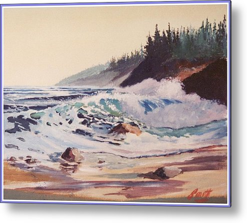 Seascape Metal Print featuring the painting Quensland Beach by Barry Smith