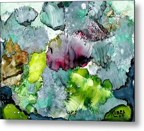 Reef Metal Print featuring the painting Reef 4 by Susan Kubes