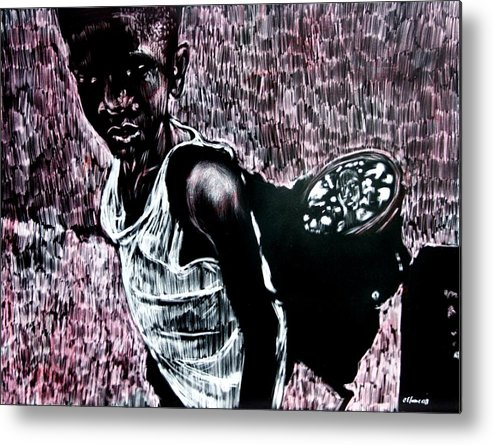 Portrait Metal Print featuring the mixed media Reflection by Chester Elmore