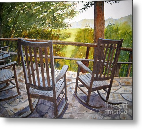 Mountains Metal Print featuring the painting Relax by Shirley Braithwaite Hunt