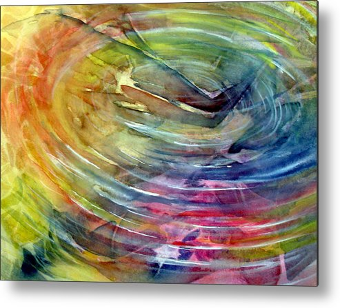 Ripples Metal Print featuring the painting Ripples by Allison Ashton