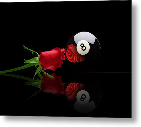 Pool Metal Print featuring the digital art Rosey8 by Draw Shots