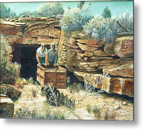 Uranium Mining Metal Print featuring the painting Sage Mine by Lee Bowerman