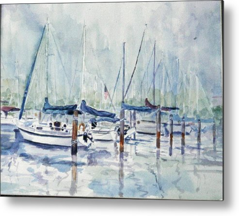 Marina Metal Print featuring the painting September Mourning by Ruth Mabee