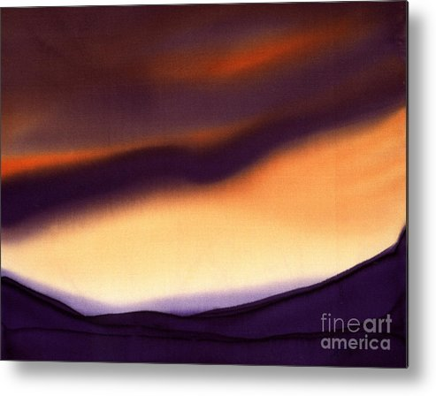 Painting Metal Print featuring the painting Shades Of Dusk by Addie Hocynec