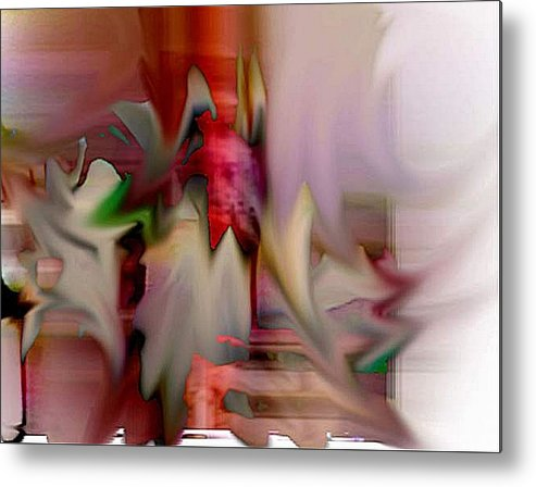Abstract Metal Print featuring the digital art Shake by Dave Kwinter