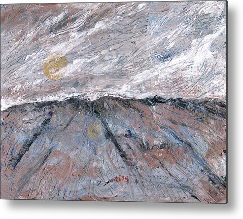 Mountains Metal Print featuring the painting Somewhere Higher by Rollin Kocsis
