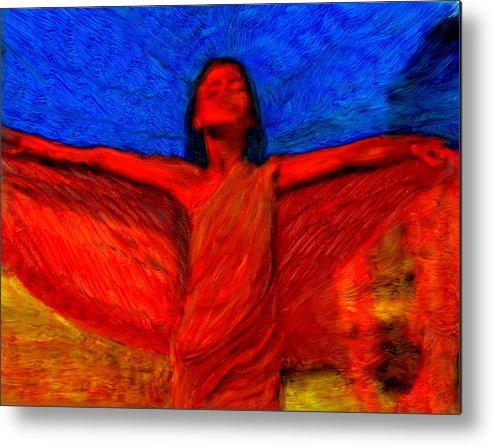 Metal Print featuring the painting Soul Essence by FeatherStone Studio Julie A Miller