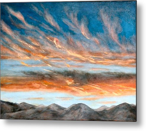 Sunset Metal Print featuring the painting Southwest Sunset by Merle Blair