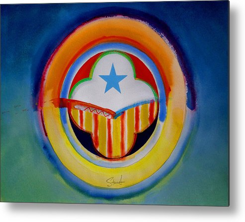 Button Metal Print featuring the painting Spanish American by Charles Stuart