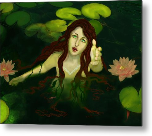 Pond Metal Print featuring the digital art Spirit Of The Pound by Anastasia Michaels