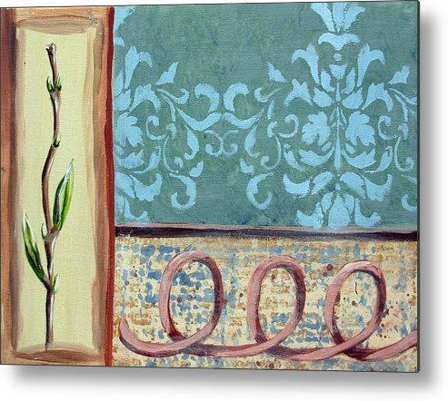 Decorative Metal Print featuring the painting Spring Fling 1 by Judy Anderson