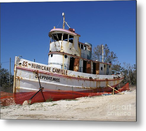 Ship Metal Print featuring the photograph S.s. Hurricane Camille by Debbie May