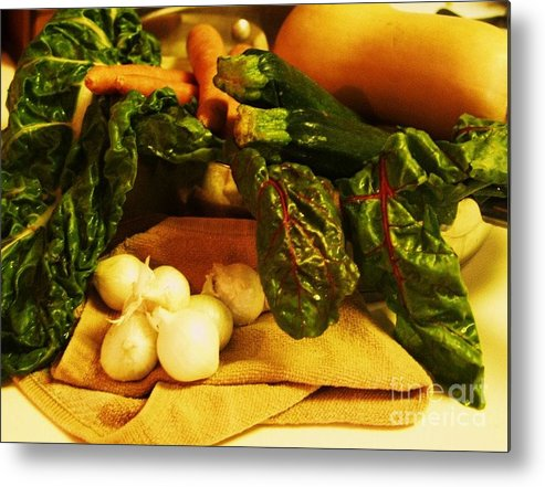 Vegetables Metal Print featuring the photograph Still Life And Then Dinner by Jamey Balester