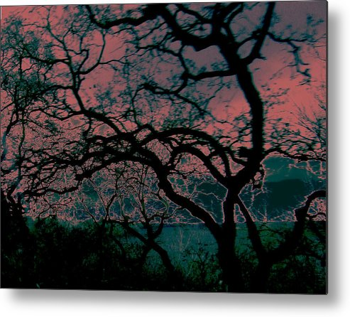 Abstract Metal Print featuring the painting Sundown by Tim Tanis