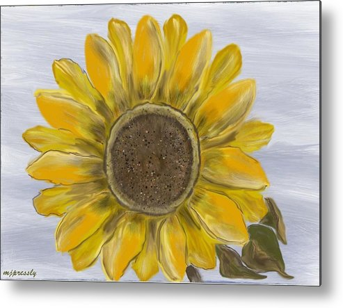 Flower Metal Print featuring the digital art Sunflower by June Pressly