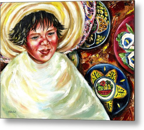 Child Metal Print featuring the painting Sunny Day by Hiroko Sakai