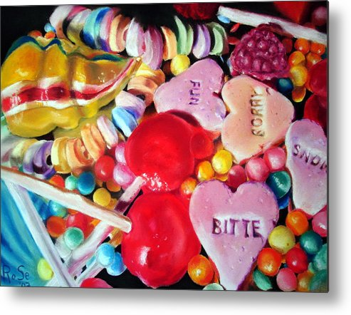 Soft Pastels Metal Print featuring the painting Sweets For My Sweet by Rose Sciberras
