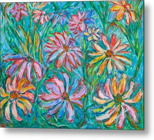 Impressionist Metal Print featuring the painting Swirling Color by Kendall Kessler