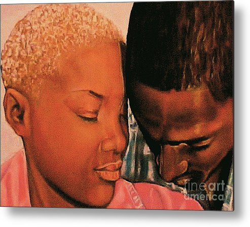 Talk To Me Baby Metal Print featuring the pastel Talk To Me Baby II by Curtis James