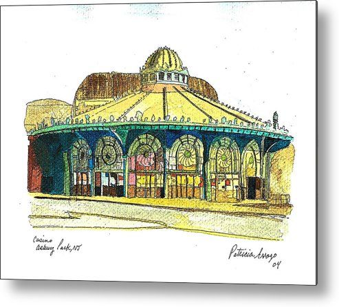 Asbury Art Metal Print featuring the painting The Asbury Park Casino by Patricia Arroyo