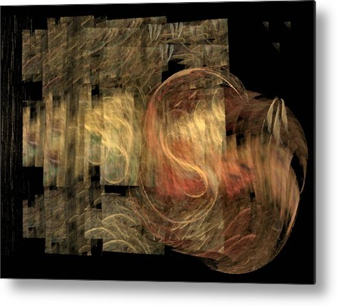 Abstract Metal Print featuring the digital art The Crooked Road by NirvanaBlues