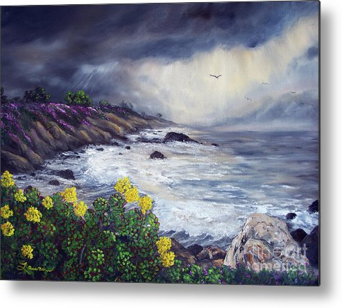California Metal Print featuring the painting The Last Storm by Laura Iverson