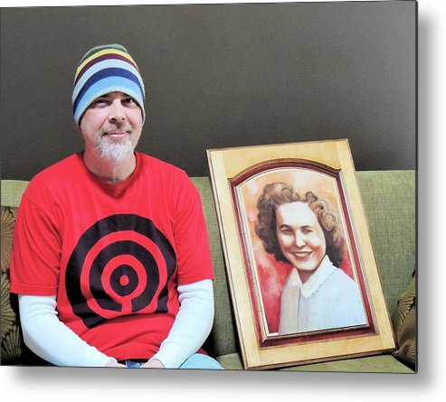 Family Metal Print featuring the photograph The Artist And His Latest Painting by Karen Majkrzak