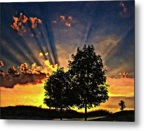 Sunset Metal Print featuring the photograph The Promise Oil by Steve Harrington