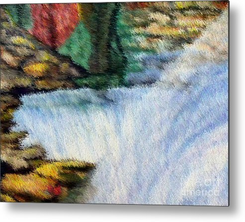 Scenery Metal Print featuring the digital art The Refreshing Se3 by Brenda L Spencer