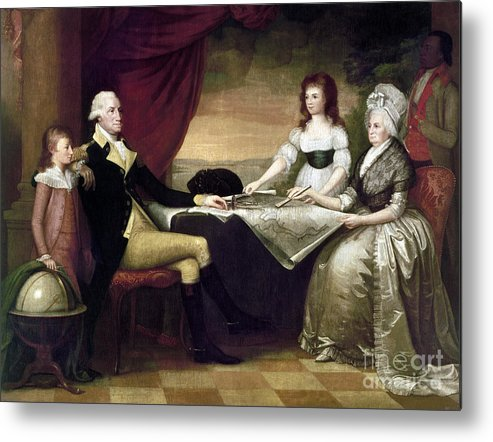 1796 Metal Print featuring the photograph The Washington Family by Granger