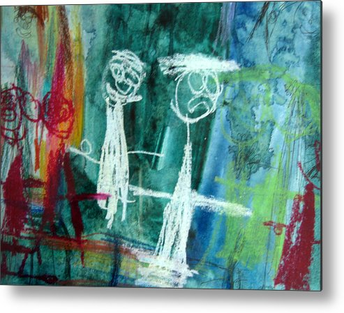 Wedding Metal Print featuring the mixed media The Wedding Party by Alfred Resteghini