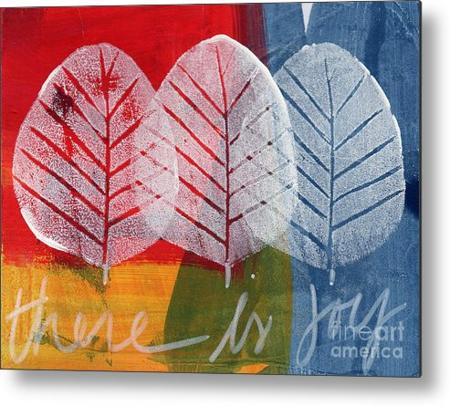Abstract Metal Print featuring the painting There Is Joy by Linda Woods
