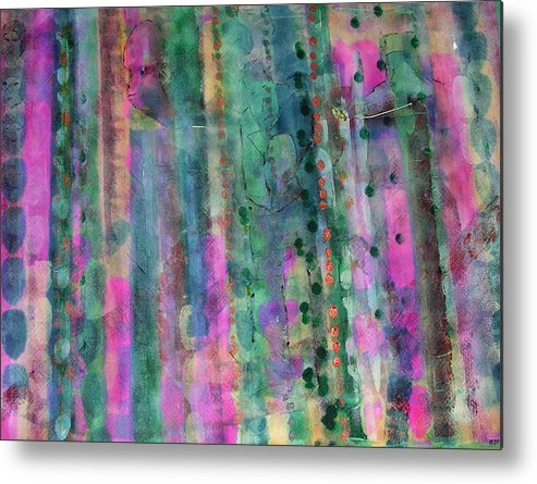 Abstract Metal Print featuring the painting Three Wise Men by Russell Simmons