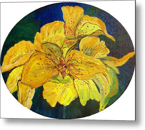 Tiger Lily Metal Print featuring the painting Tiger Lily by Mikki Alhart