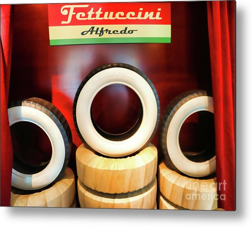 California Adventure Metal Print featuring the photograph Tires New White Wall 50's by Chuck Kuhn