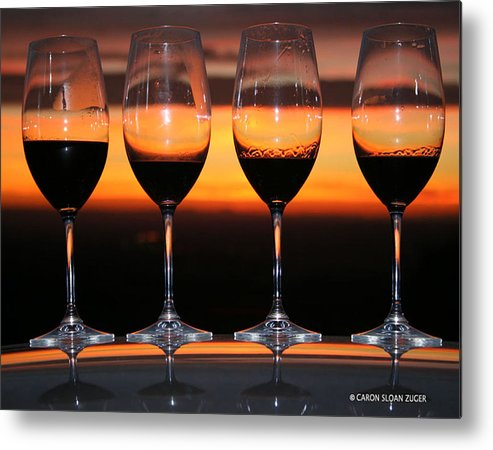 Photograph Metal Print featuring the photograph Toast At Sunset Photograph by Caron Sloan Zuger