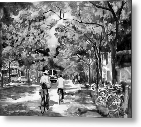 Xian Metal Print featuring the painting Tradition Vs Modernism by Eileen Fong