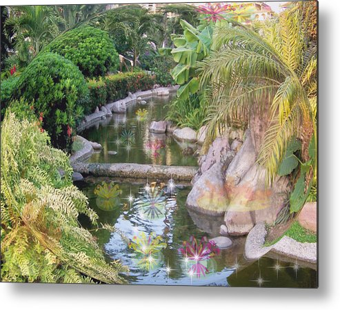 Nature Metal Print featuring the digital art Tranquil by George Pasini
