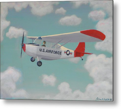 Plane Metal Print featuring the painting U S Air Force by James Violett II