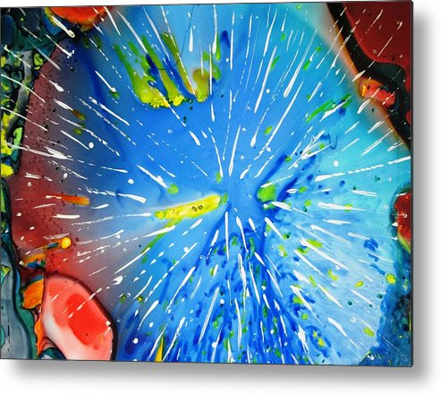 Space Metal Print featuring the painting Universe Three by David Raderstorf