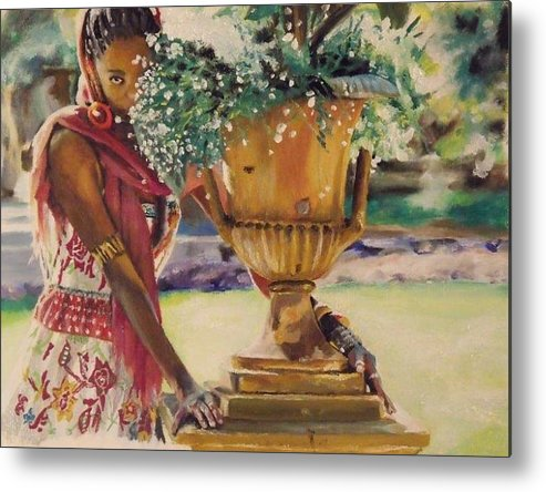 African American Art Metal Print featuring the painting Untitled by Baroquen Krafts